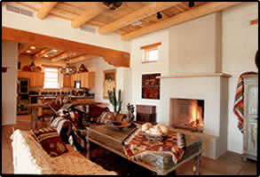 Tuscon adobe home interior
