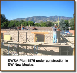 SWSA Plan 1576 under construction in SW New Mexico.