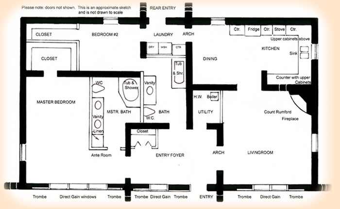 Rammed Earth Solar House Plan 1680 Affordable Rammed