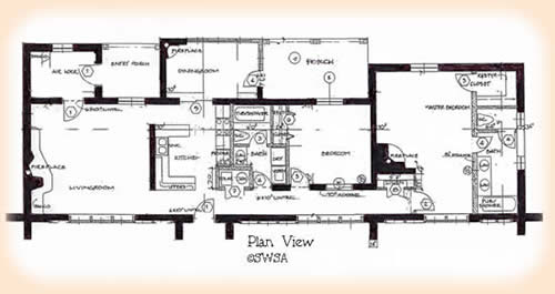 Floor plan layout for house plan 1930