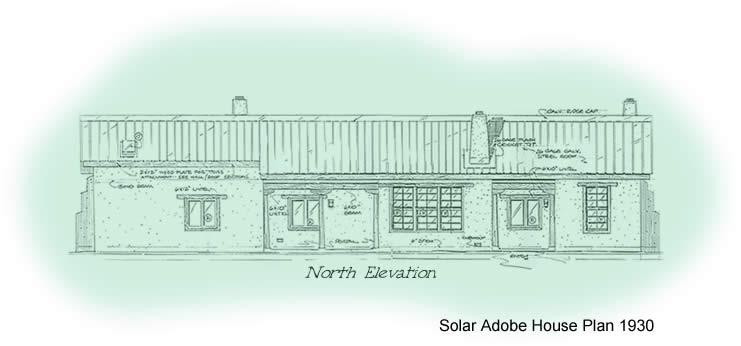 2 bedroom adobe house plans Adobe House Plan 1930