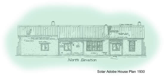 Two bedroom solaradobe house plan