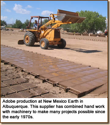 Adobe production at New Mexico Earth