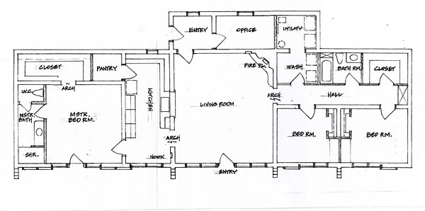 adobe house plan with 2966 square feet and 4 bedrooms from