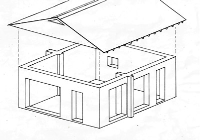 Rammed Earth Solar Garage Plan 672 - Affordable rammed earth solar on underground building plans, simple underground house plans, small underground house plans, earth house plans, tire houses plans, in ground house plans, berm home floor plans, underground bunker floor plans,