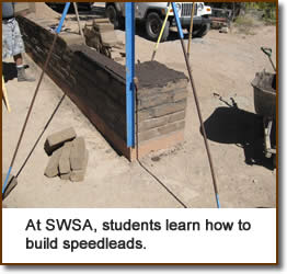 At SWSA, students learn how to build speedleads.