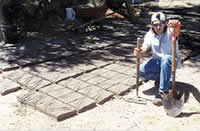 "John Elrod makes a fully stabilized adobe for the Fall Vault & dome class. These are 10"" X 2"" X 7"""