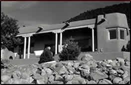 Adobe house near Santa Fe, NM