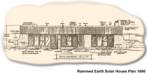 Rammed earth solar house plan 1680 affordable rammed for Earth home floor plans